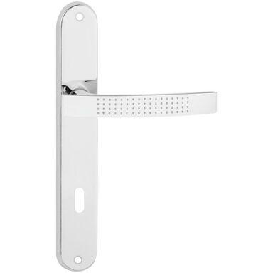 Klamka drzwiowa z długim szyldem pod klucz ASTRA 90 Chrom połysk