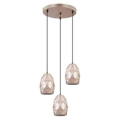 Lampa wisząca HARLEY miedziana E27 ITALUX