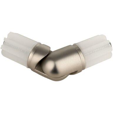 Łącznik kątowy do karnisza chrom mat 25 mm Inspire
