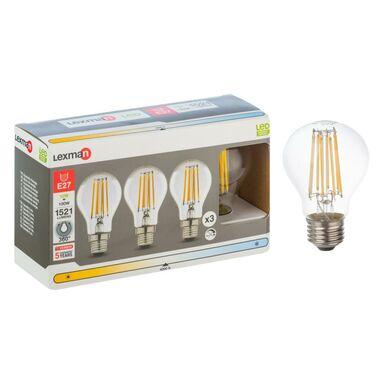Żarówka LED E27 3 szt. (230 V) 12 W 1521 lm Neutralna biel LEXMAN