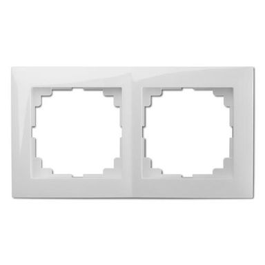 Ramka podwójna SENTIA  biały  ELEKTRO - PLAST