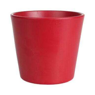 Osłonka na doniczkę 28 cm ceramiczna czerwona CERMAX