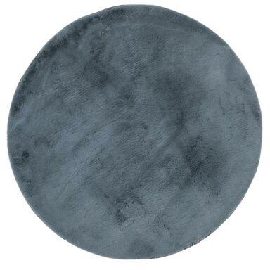 Dywan shaggy FLUFFY grafitowy okrągły śr. 100 cm