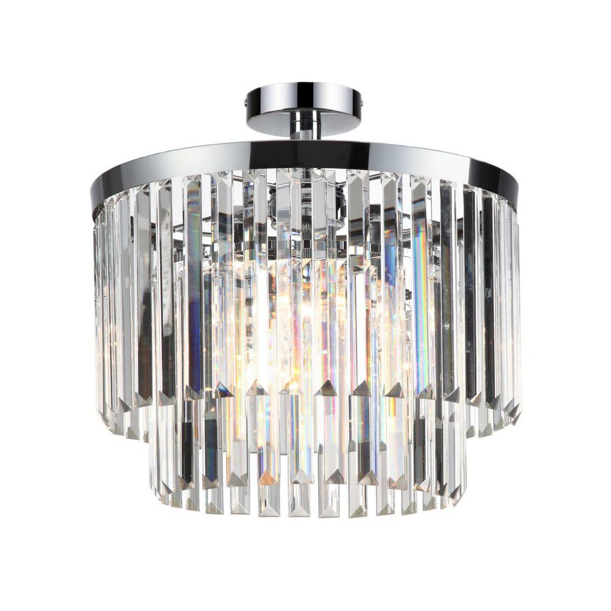 Lampa Sufitowa Vetro Krysztalowa E14 Light Prestige Zyrandole Lampy Wiszace I Sufitowe W Atrakcyjnej Cenie W Sklepach Leroy Merlin