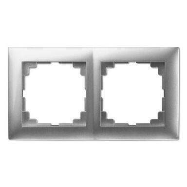 Ramka podwójna SENTIA  srebrny  ELEKTRO - PLAST