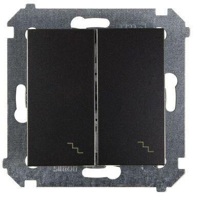 Włącznik schodowy PODWÓJNY SIMON 54 Antracytowy SIMON