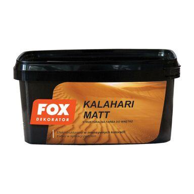 Farba strukturalna KALAHARI MATT 1 l Szmaragd Efekt piaskowy zielony FOX