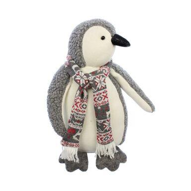 Pluszowy pingwin w szaliku 38 cm