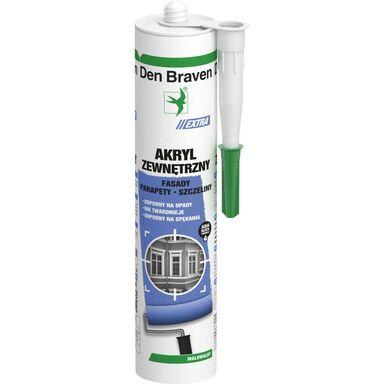 Akryl EXTRA ZEWNĘTRZNY 300 ml Biały DEN BRAVEN