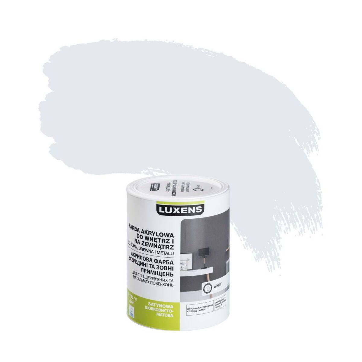 Emalia Akrylowa 0 75 L White Satynowa Luxens Emalie Akrylowe Wodne W Atrakcyjnej Cenie W Sklepach Leroy Merlin