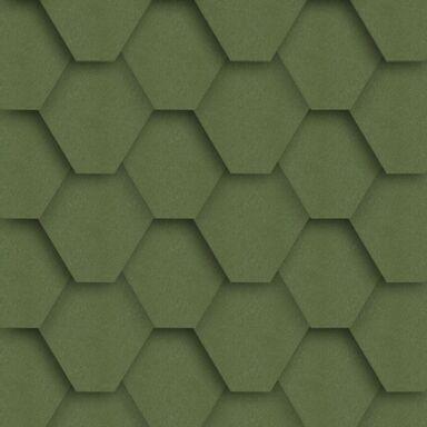 Gont bitumiczny HEXAGONALNY Zielony 3 m2 IZOLMAT