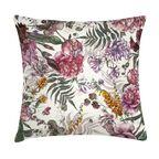 Poduszka w kwiaty różowa 45 x 45 cm