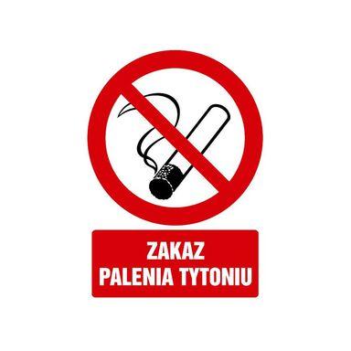 Znak informacyjny ZAKAZ PALENIA 29.7 x 21 cm