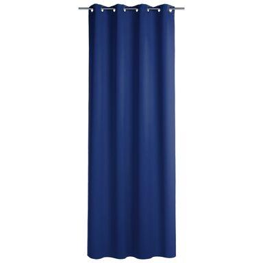 Zasłona zaciemniająca Blackout niebieska 140 x 260 cm na przelotkach Inspire