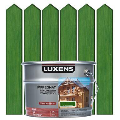 Impregnat do drewna ZEWNĘTRZNY 9 l Zielony świerkowy LUXENS