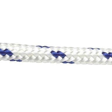 Lina PE 375 kg 10 mm x 1 mb pleciona biało-niebieska STANDERS