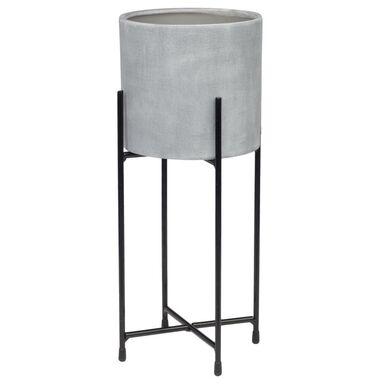 Osłonka ceramiczna ze stojakiem 16.5 cm efekt betonu LUGO 2 R2224