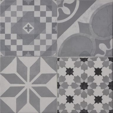 Terakota PATCHWORK GRIS 45 X 45 HALCON MOMENTS