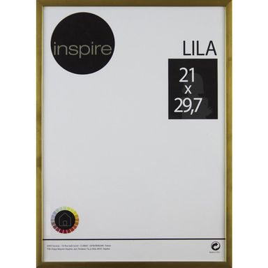 Ramka na zdjęcia Lila 21 x 29.7 cm złota Inspire