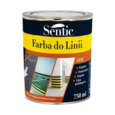 Farba do podłóg DO LINII 0.75 l Biała SENTIC