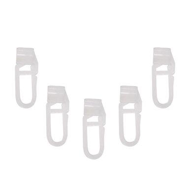 Agrafki ze ślizgiem do szyny aluminiowej 10 szt. białe MARDOM