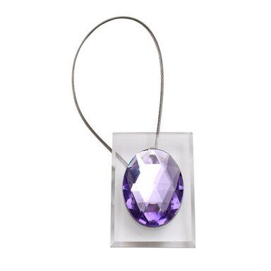 Upinacz dekoracyjny do zasłon z magnesem fioletowy
