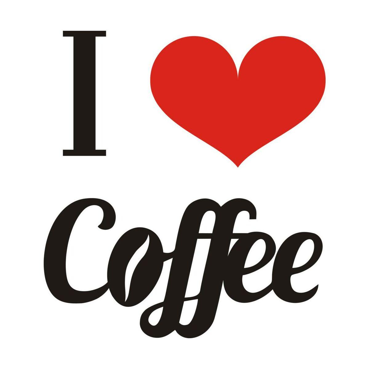 Naklejka I LOVE COFFEE