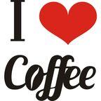 Samoprzylepne hasło welurowe I LOVE COFFEE 32 x 19 cm SPLENDID