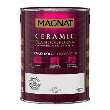 Farba wewnętrzna CERAMIC 5 l Szary piryt MAGNAT