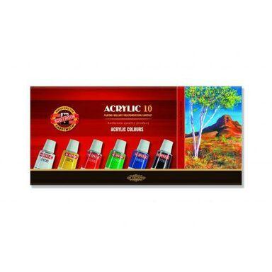 Farby akrylowe ACRYLIC 10 kolorów po 16 ml KOH-I-NOOR