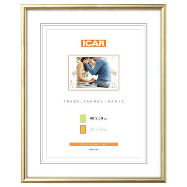 Ramka na zdjęcia Dri Hit 40 x 50 cm złota drewniana