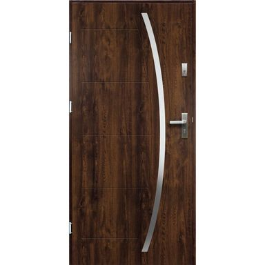 Drzwi wejściowe HELIOS Orzech 80 Lewe OK DOORS TRENDLINE