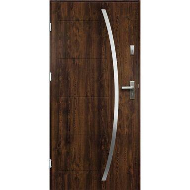 Drzwi zewnętrzne stalowe HELIOS Orzech 80 Lewe OK DOORS TRENDLINE