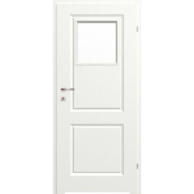 Skrzydło drzwiowe łazienkowe z szybą z podcięciem wentylacyjnym Morano II Białe 70 Prawe Classen