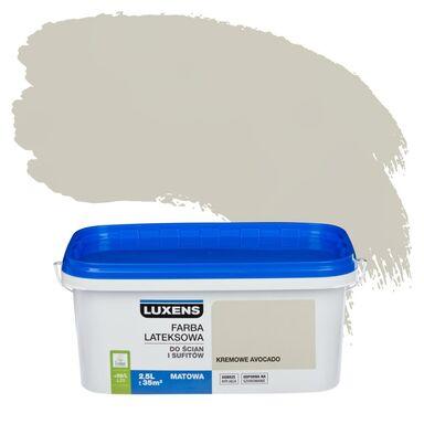 Farba wewnętrzna do ścian i sufitów EMULSJA 2.5 l Kremowe avocado LUXENS