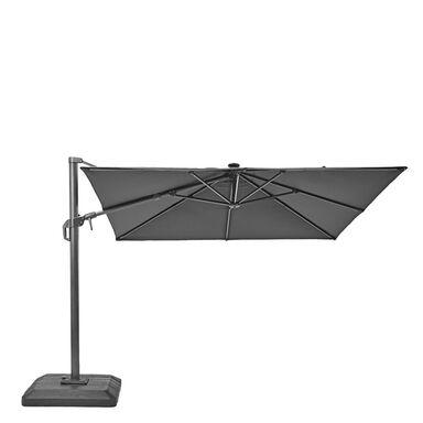 Parasol ogrodowy 288 x 288 cm SONORA z oświetleniem LED antracytowy kwadratowy NATERIAL