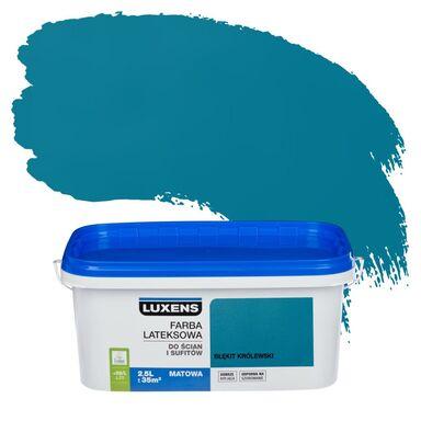 Farba wewnętrzna EMULSJA 2.5 l Błękit królewski LUXENS
