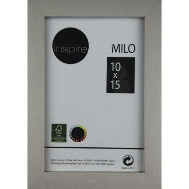 Ramka MILO 10 x 15 cm srebrna MDF INSPIRE