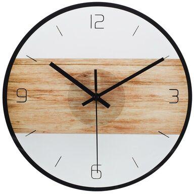 Zegar ścienny szklany LZE-6 śr. 30 cm dąb