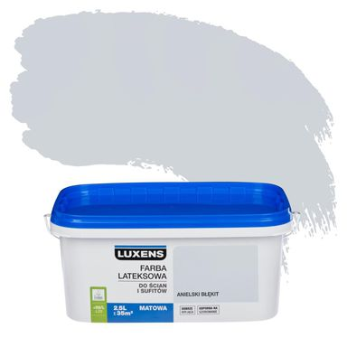 Farba wewnętrzna do ścian i sufitów EMULSJA 2.5 l Anielski błękit LUXENS