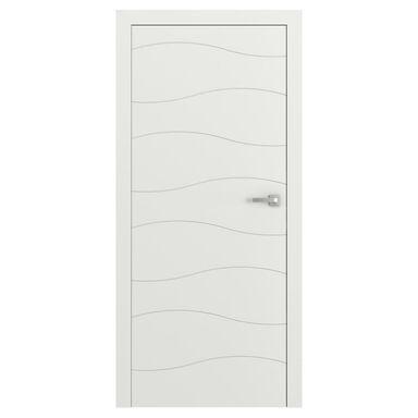 Skrzydło drzwiowe pełne bezprzylgowe VECTOR X Białe 80 Lewe PORTA