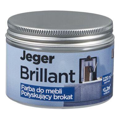 Farba do mebli BRILLANT 125 ml Nikiel Połyskujący brokat JEGER
