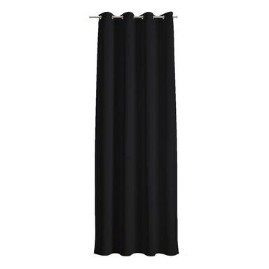 Zasłona DOLCE czarna 140 x 250 cm na przelotkach