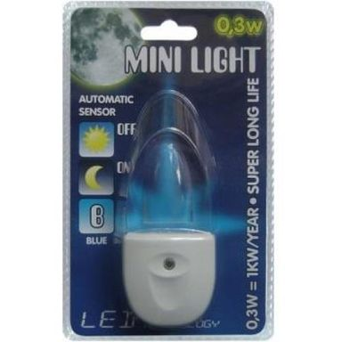 Lampka nocna MINI do kontaktu  z czujnikiem LED LIGHT PREZENT