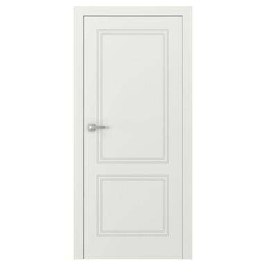Skrzydło drzwiowe pełne bezprzylgowe Vector V Białe 80 Prawe Porta