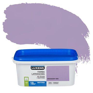 Farba wewnętrzna EMULSJA 2.5 l Wrzosowy sen LUXENS