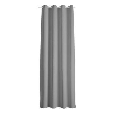 Zasłona DOLCE szara 140 x 250 cm na przelotkach