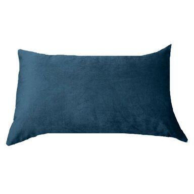 Poduszka welurowa Tony ciemnoniebieska 50 x 30 cm Inspire