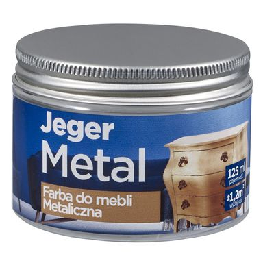 Farba do mebli METAL 125 ml Srebro Metaliczna JEGER
