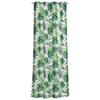 Zasłona Novio zielona 140 x 260 cm na przelotkach Inspire